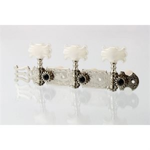 ALLPARTS TK-0124-001 NICKEL CLASSICAL TUNER SET 3X3 WITH BUTTERFLY BUTTONS