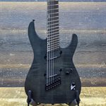 ESP LTD M-1007 MULTI-SCALE BOLT-ON SEE THRU BLACK SATIN ELECTRIC GUITAR #W18031821