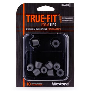 WESTONE EMBOUT POUR IN-EAR BLACK WES-62801 10 TIPS