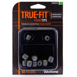 WESTONE 62804 IN-EAR TIPS GREEN (PACK OF 10)