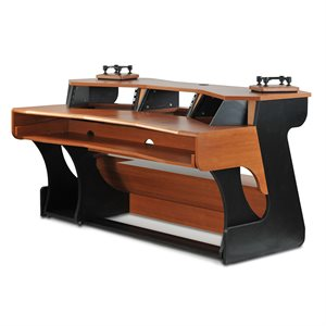 ZAOR MIZA X2 STUDIO DESK BLACK CHERRY
