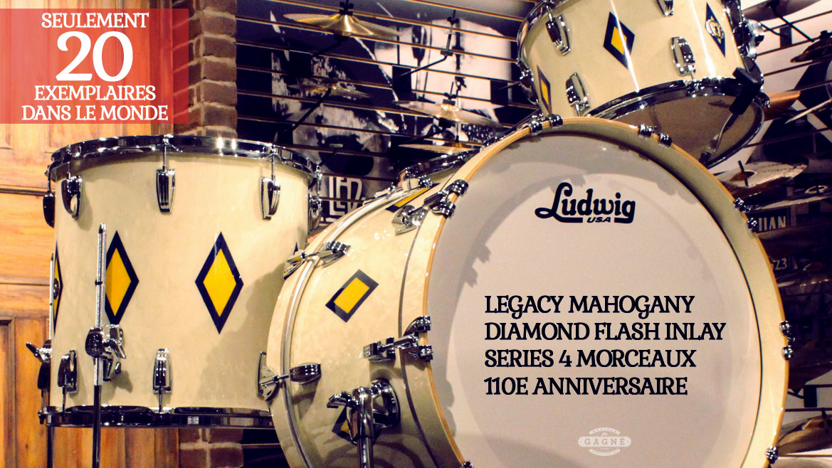 LUDWIG LEGACY MAHOGANY DIAMOND FLASH INLAY SERIES