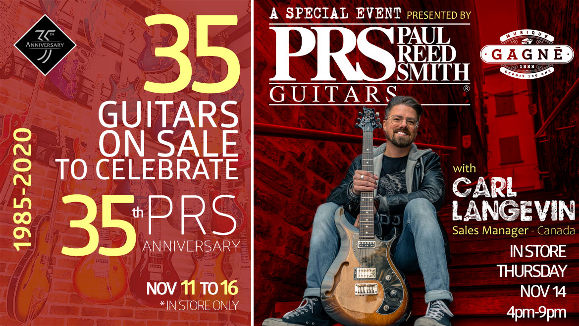 35 Guitars On Sale to Celebrate PRS 35th Anniversary